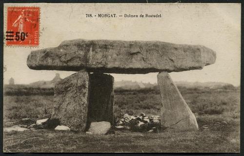 Dolmen de Rostudel, Morgat, 1927