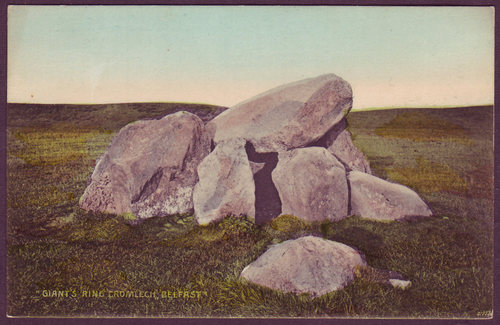 Dolmen, Giant's Ring, Ballynahatty, Tyrone, c.1910